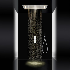 Contemporary Bathroom LED Light Rain Shower System