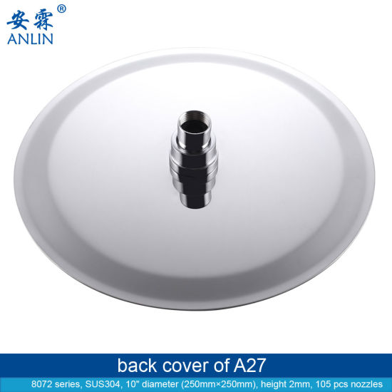 SUS304 Wall Mounted Quality Rotating Rain Shower Head